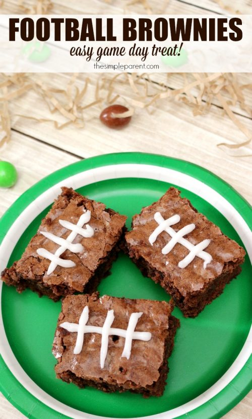 Super Bowl Sunday Football Brownies