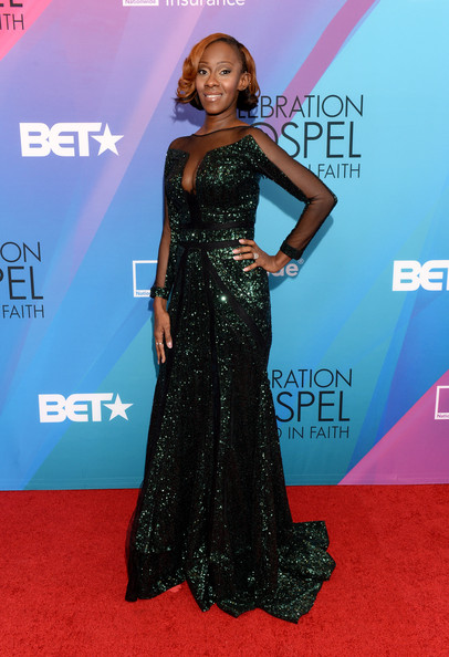 Le'Andria Johnson BET Celebration of Gospel 2014 Red Carpet