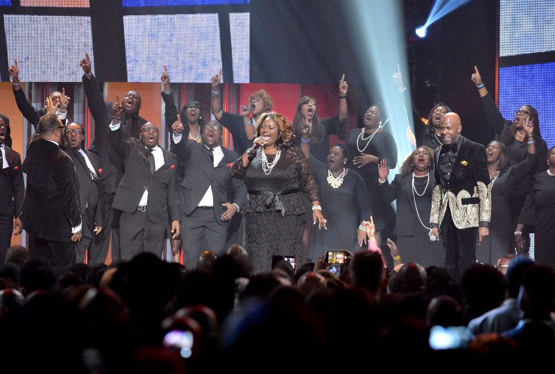 LAS VEGAS, NV - FEBRUARY 20: Recording artists Donald Lawrence, Hezekiah Walker and Ricky Dillard perform with The Associates onstage during the 2016 Stellar Gospel Awards at the Orleans Arena on February 20, 2016 in Las Vegas, Nevada. (Photo by Earl Gibson III/Getty Images)