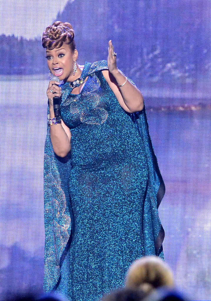 LAS VEGAS, NV - FEBRUARY 20: Recording artist Lady Tramaine Hawkins performs onstage during the 2016 Stellar Gospel Awards at the Orleans Arena on February 20, 2016 in Las Vegas, Nevada. (Photo by Earl Gibson III/Getty Images)