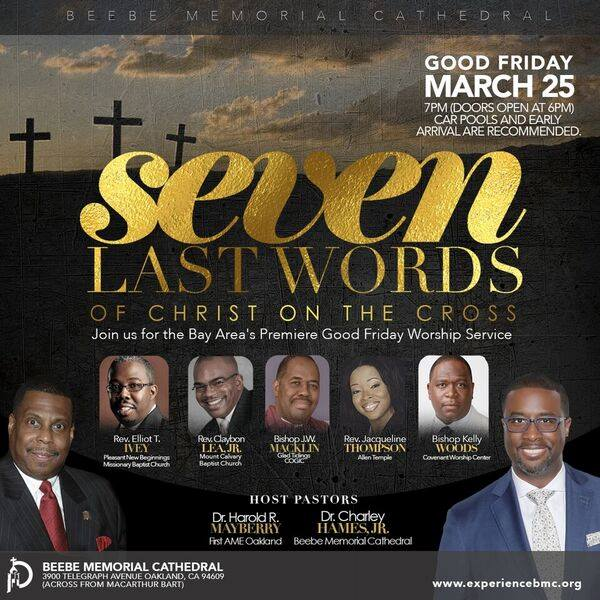 Beebe Memorial First AME Good Friday 7 Last Words
