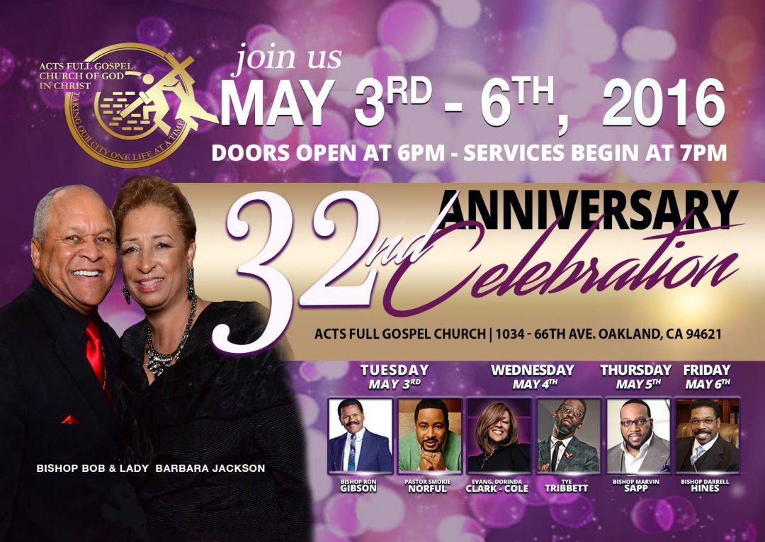 Acts Full Gospel - 32nd Anniversary Celebration