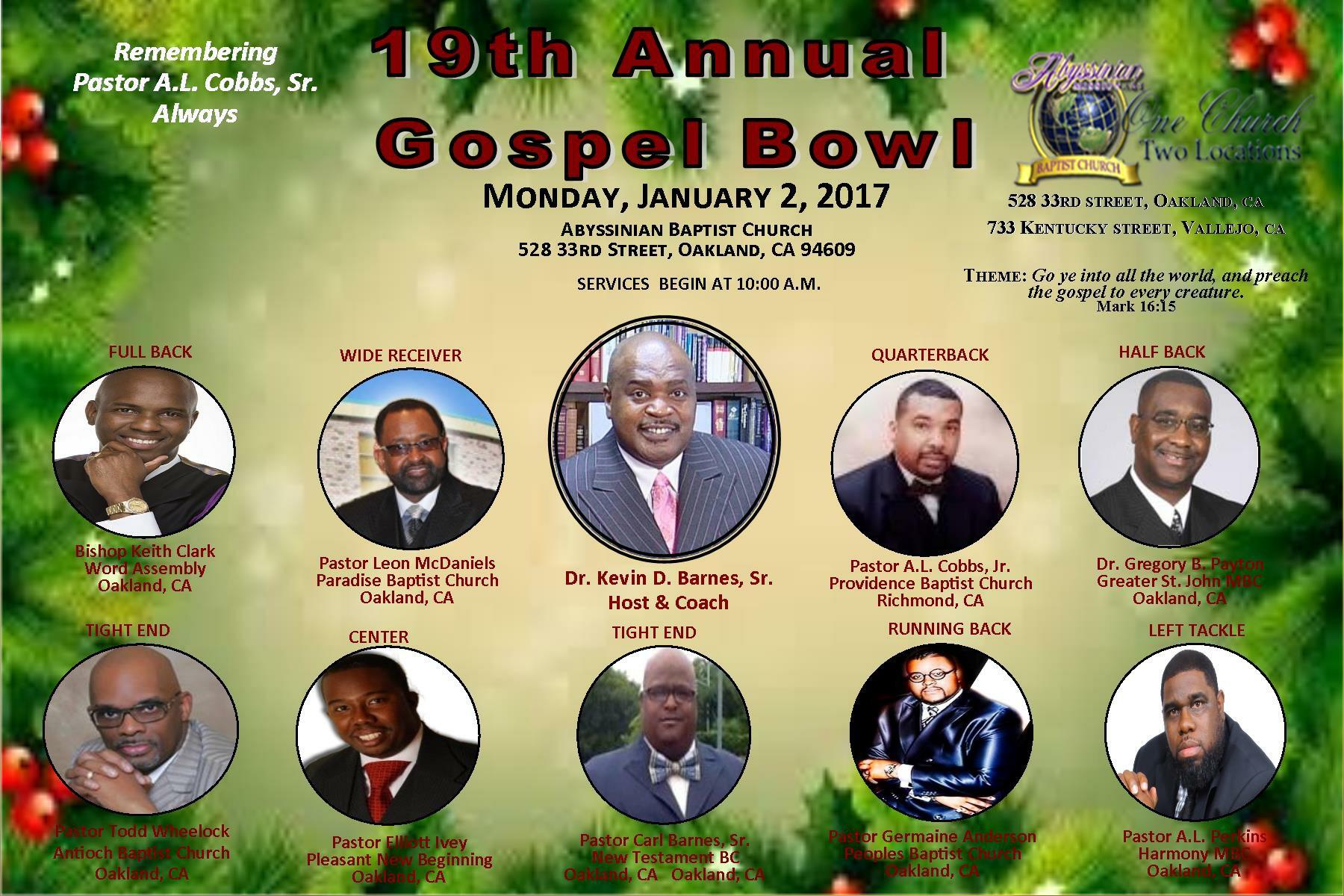 Gospel Bowl 2017