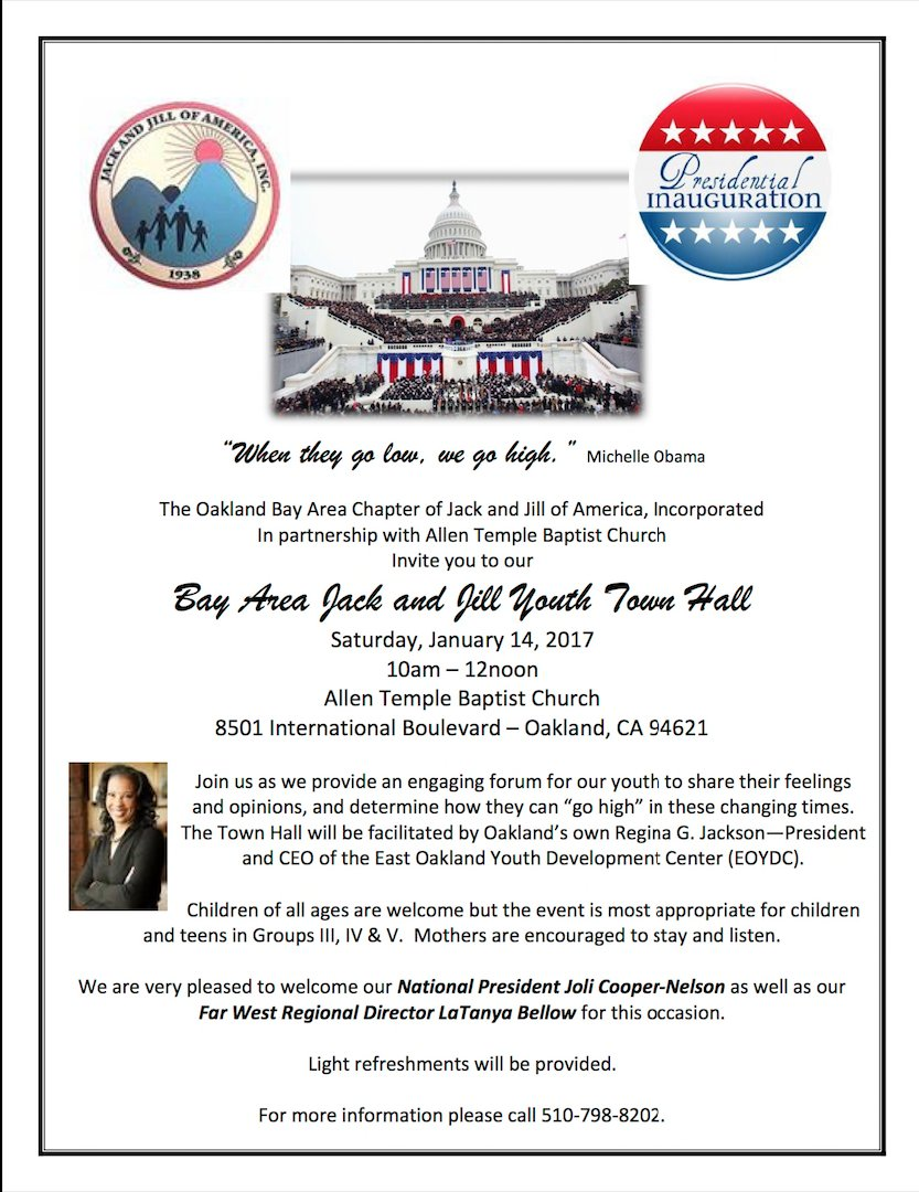 Bay Area Jack and Jill Youth Town Hall