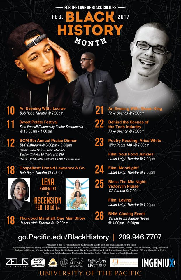 University of the Pacific - Black History Month 2017