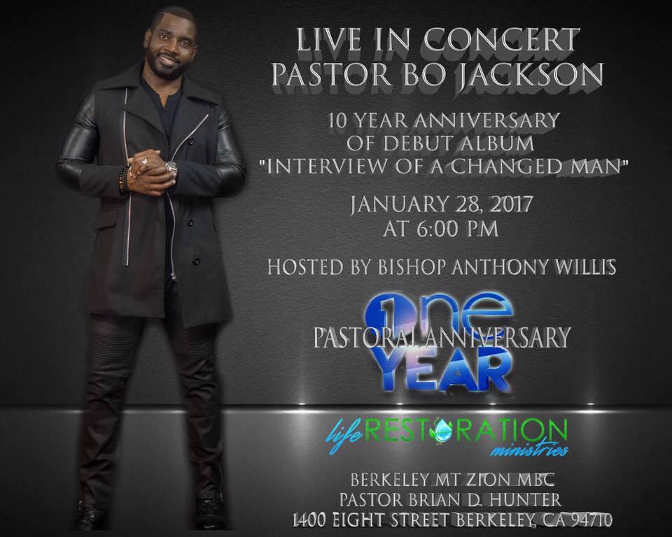 Pastor Bo Jackson CD Debut