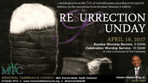 Memorial Tabernacle Easter 2017