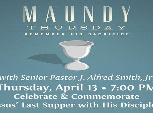 Allen Temple Maundy Thursday