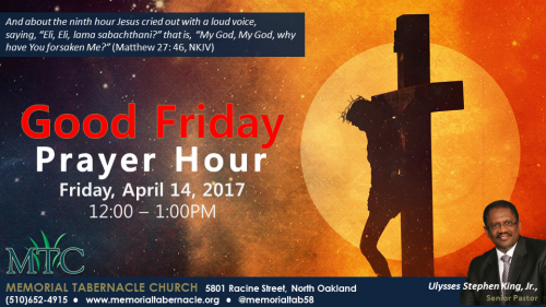 Memorial Tabernacle Church - Good Friday Prayer Hour