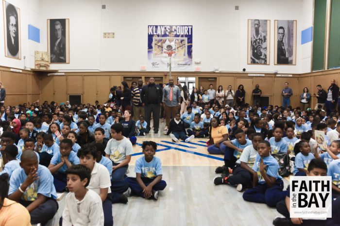 Kipp Bridge Academy Dedicates Klay Thompson Court