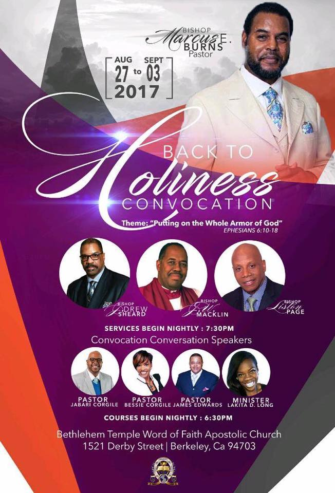 Back to Holiness Convocation