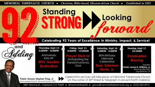 92nd Church Anniversary Fb