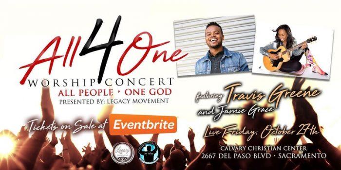 All 4 One Worship Concert - Travis Greene & Jamie Grace