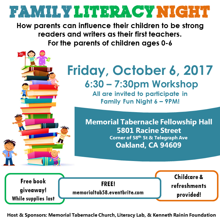 Memorial Tabernacle Church Family Literacy Night