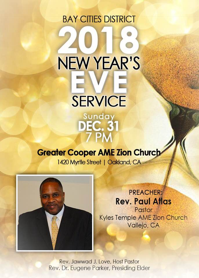 Bay Cities District New Year's Eve Service