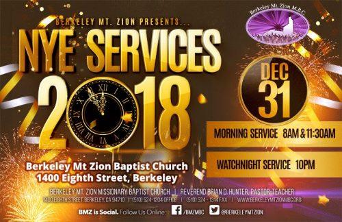 Berkeley Mt. Zion NYE Watch Night Services