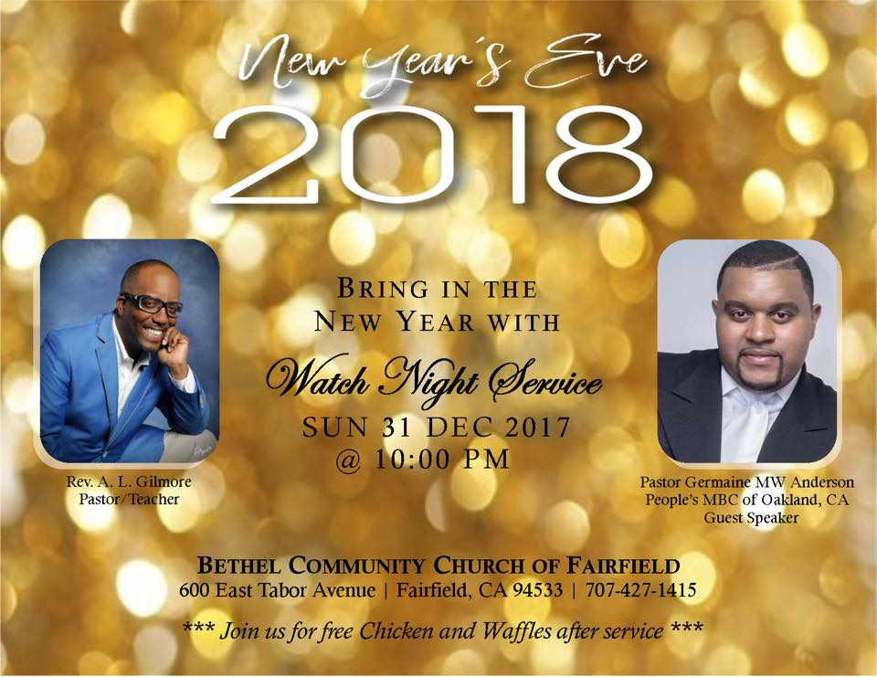 Bethel Community Church of Fairfield NYE Watch Night