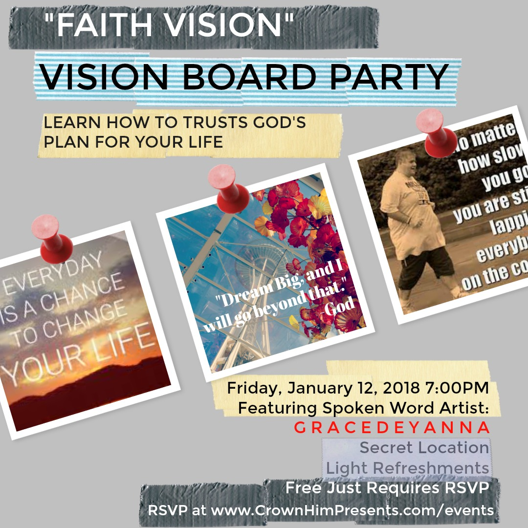 Crown Him Presents: Faith Vision - Vision Board Party