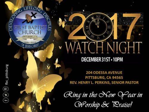 First Baptist Church Pittsburg Watch Night