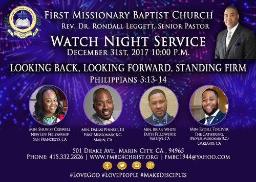 First Missionary Baptist Church - Watch Night 2017