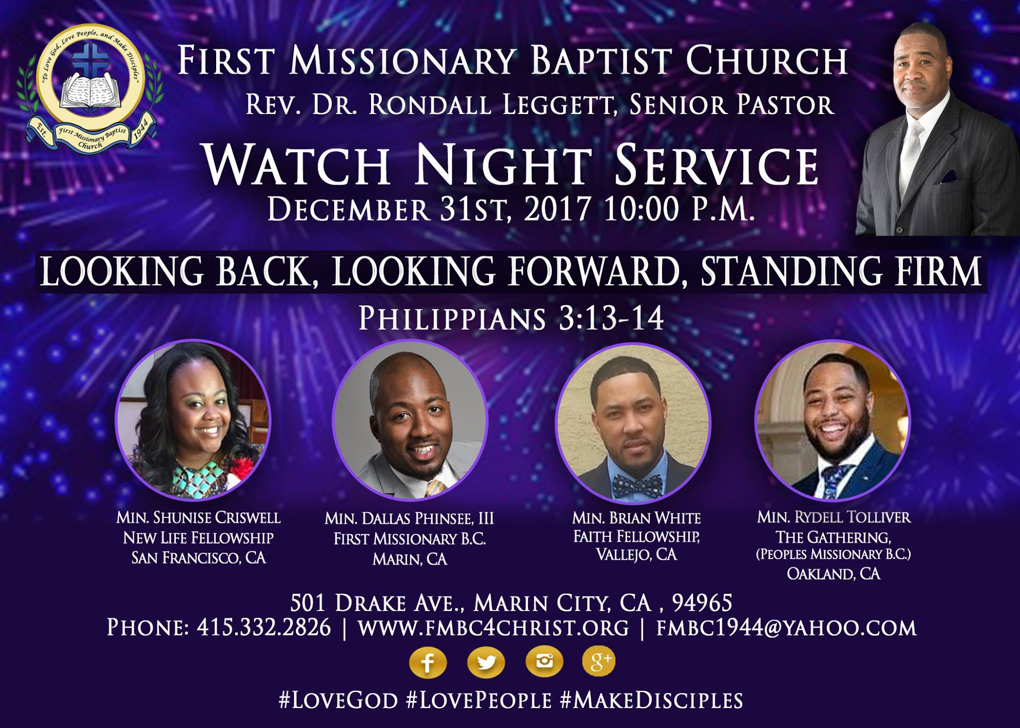 First Missionary Baptist Church - Watch Night 2017