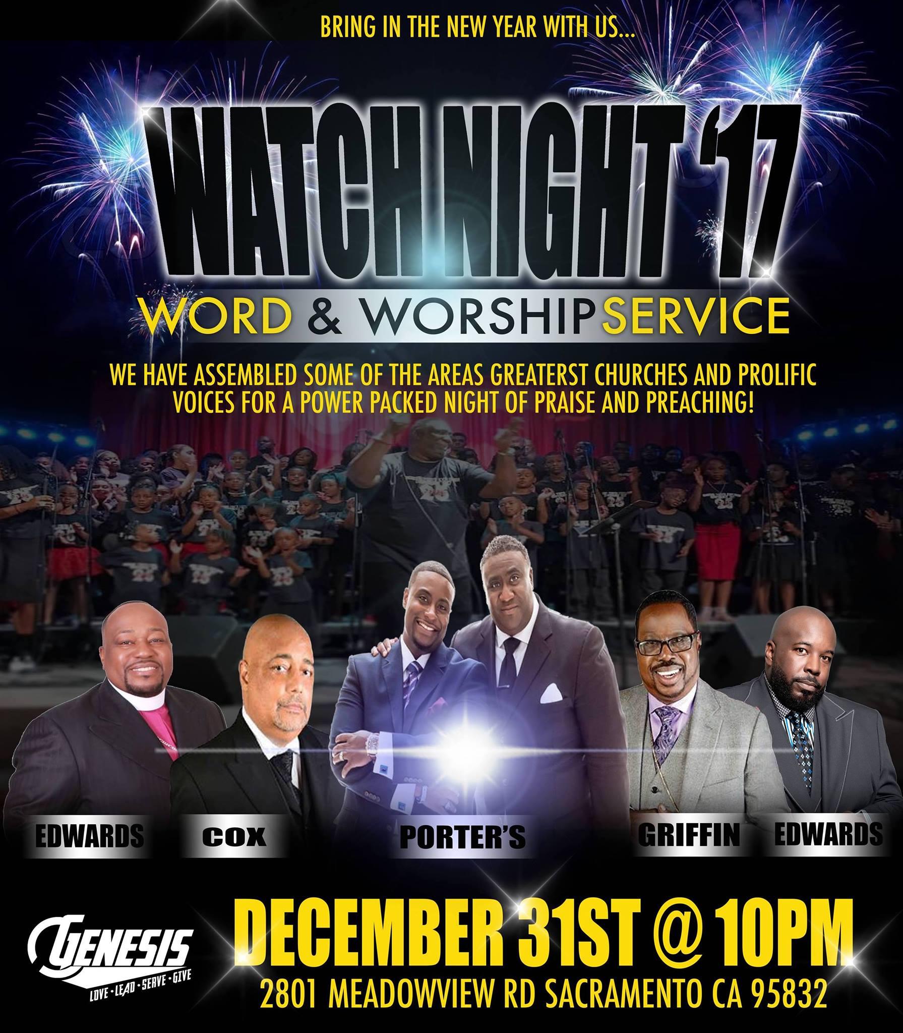 Genesis Church Watch Night Word & Worship Service