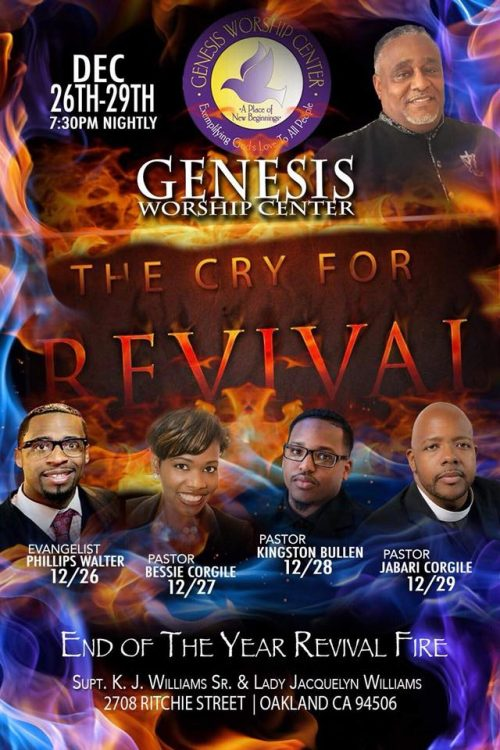 Genesis Worship Center - End of the Year Revival