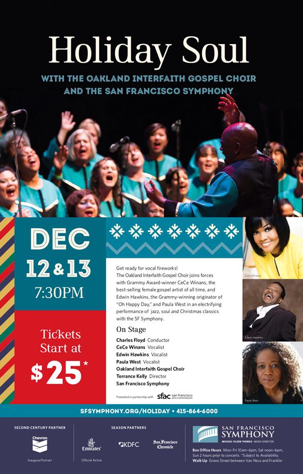 San Francisco Symphony Holiday Soul 2017