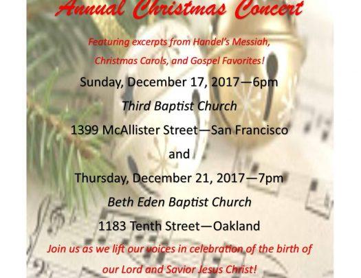 Third Baptist & Beth Eden Annual Christmas Concert