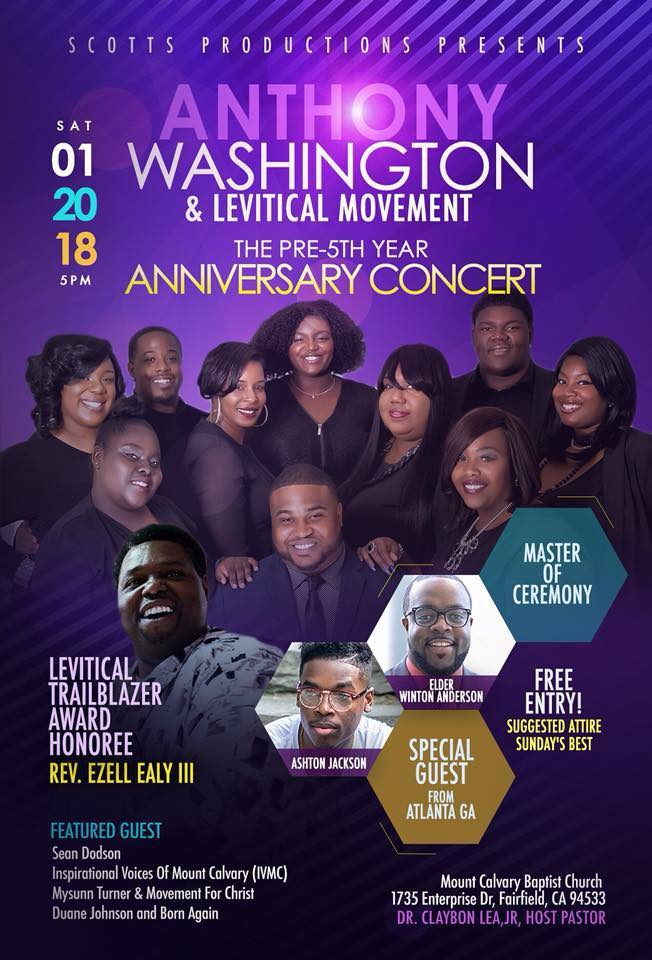 Anthony Washington & Levitical Movement Pre-5th Anniversary Concert