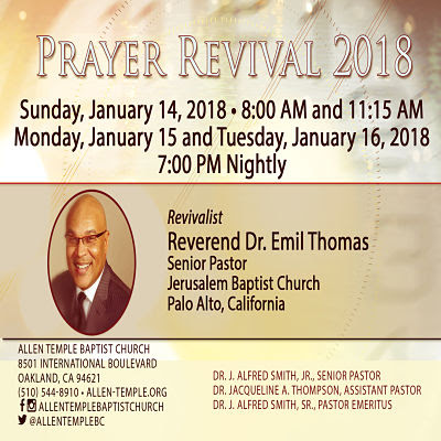 Allen Temple Baptist Church - Prayer Revival 2018