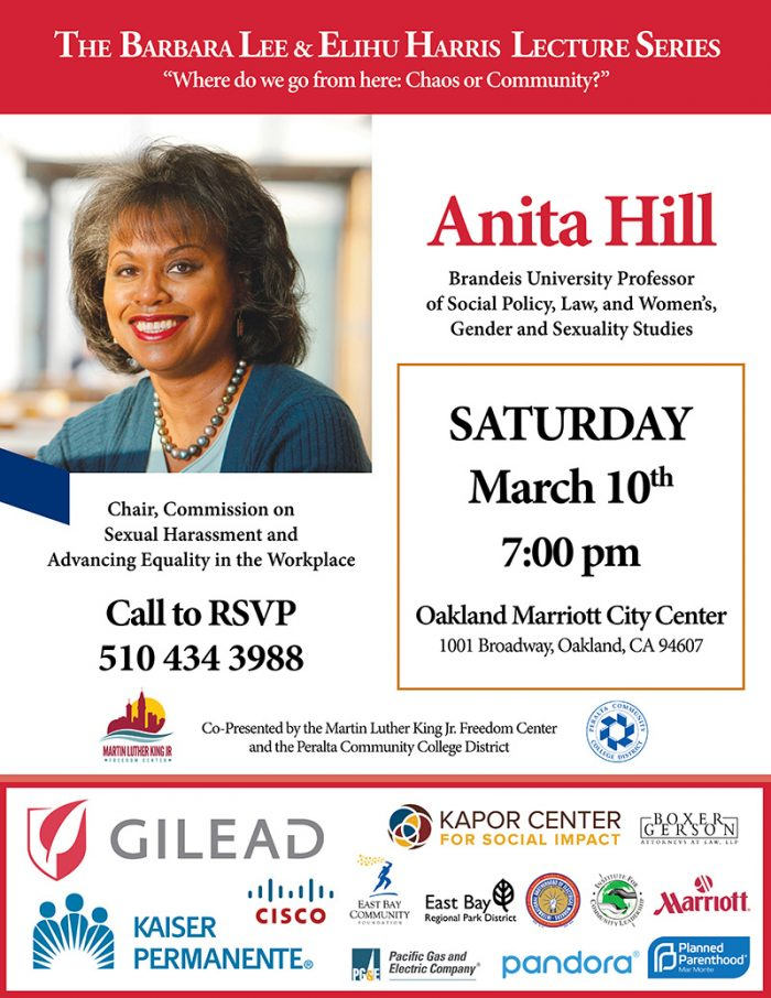 The Barbara Lee & Elihu Harris Lecture Series Featuring Anita Hill