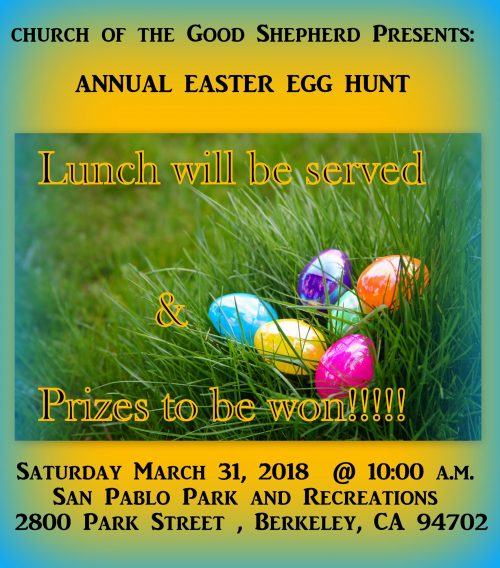 Church of the Good Shepherd Easter Egg Hunt 2018