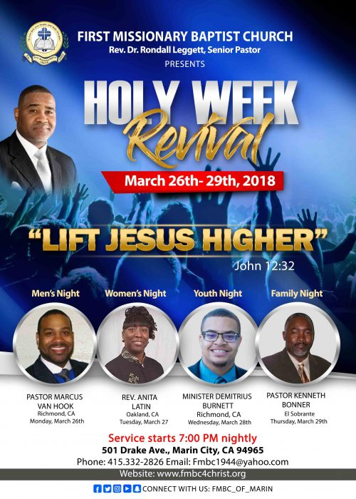 First Missionary Baptist Church Holy Week Revival 2018