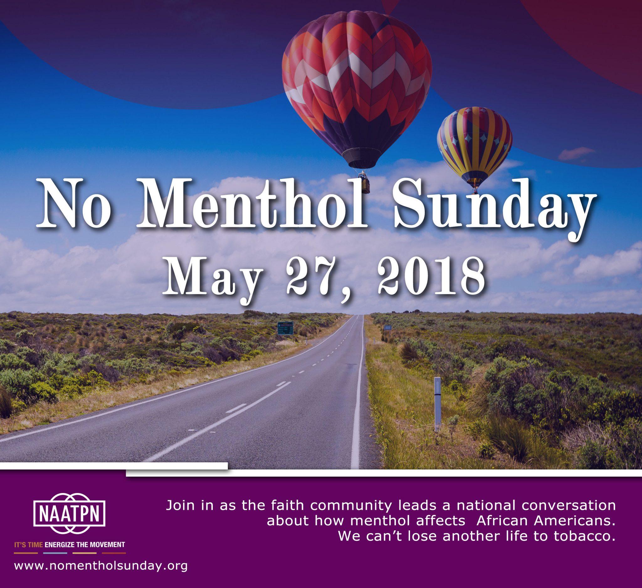 No Menthol Sunday 2018
