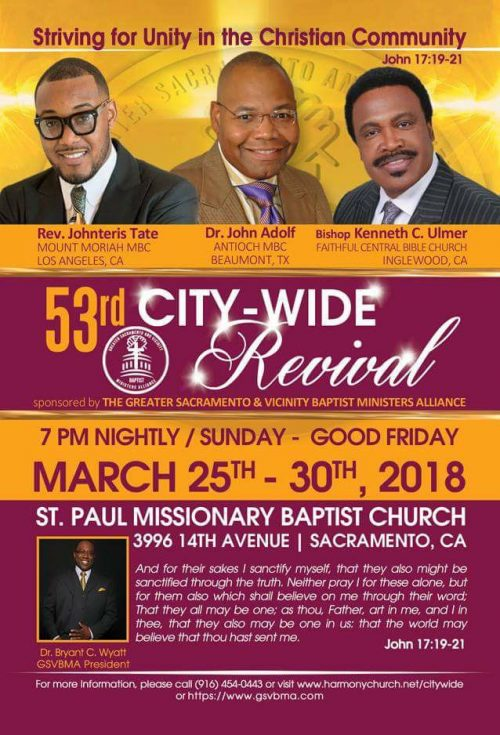 Sacramento City Wide Revival 2018