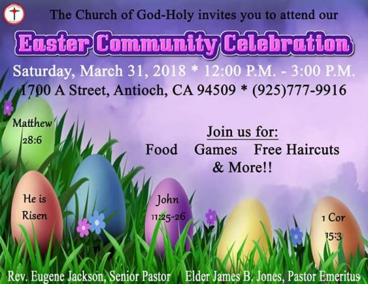 The Church Of God Holy Easter Celebration