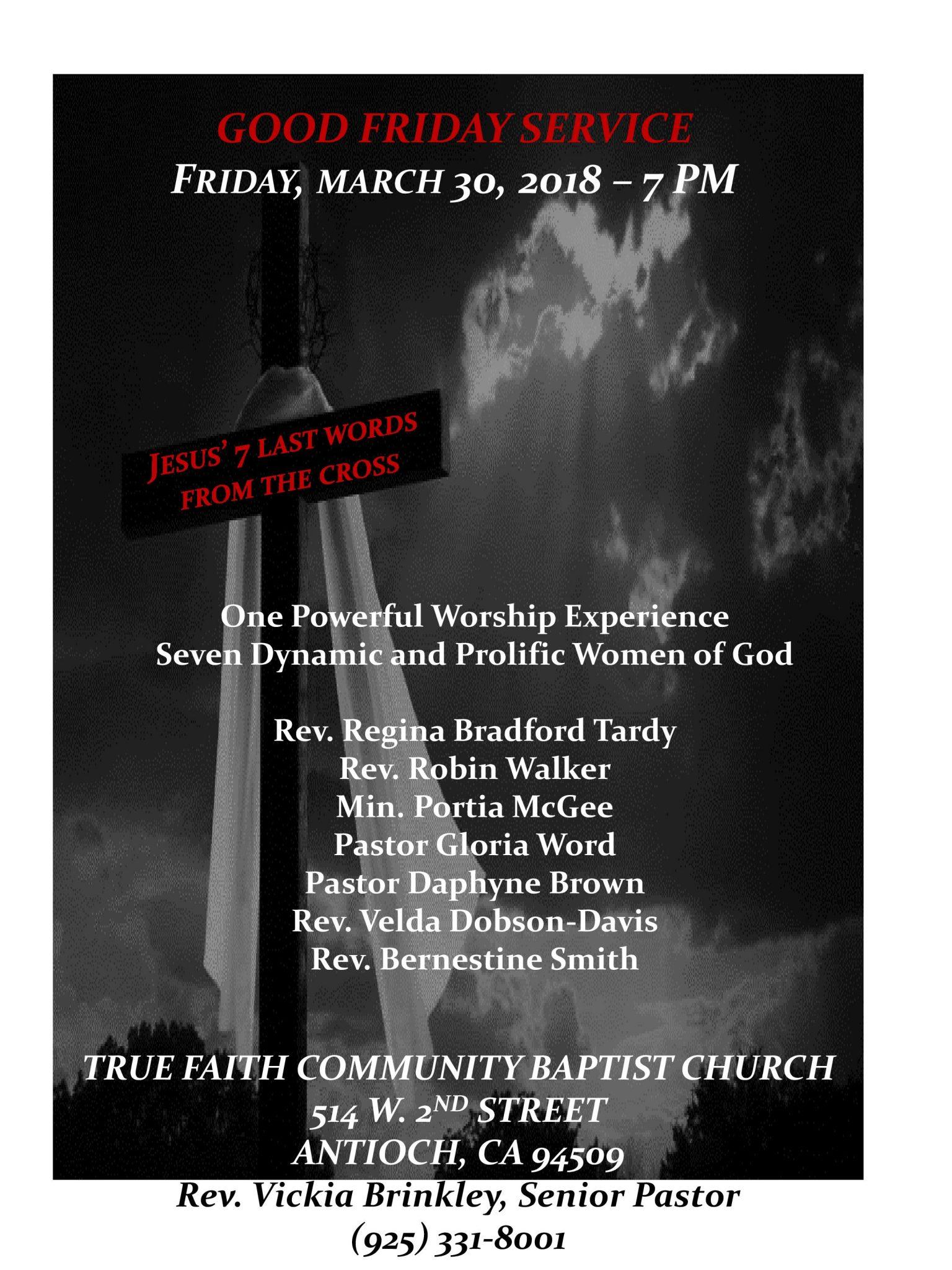 True Faith Good Friday 2018