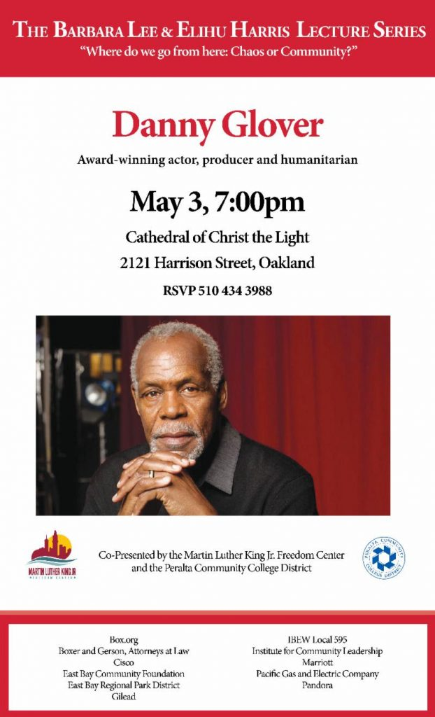 Barbara Lee & Elihu Harris Lecture Series - Danny Glover