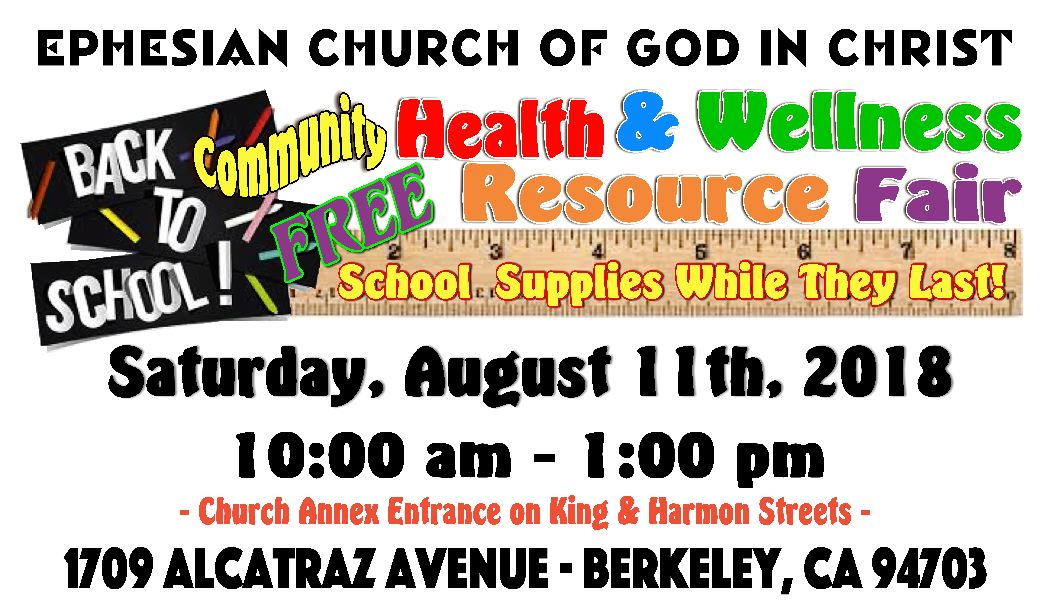Ephesian COGIC Health Fair 2018