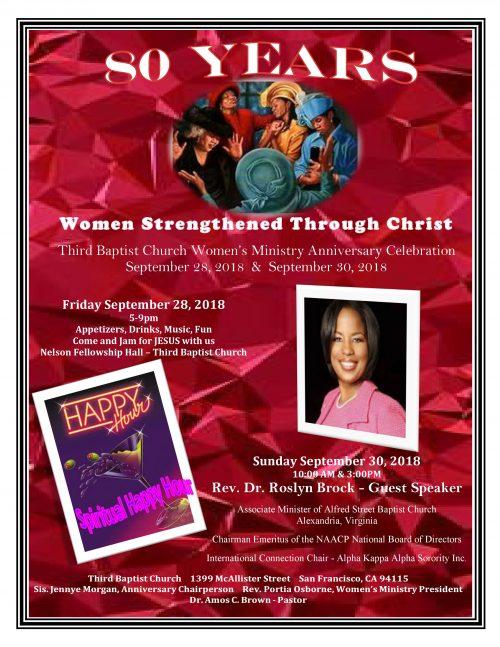 Third Baptist Womens Ministry Anniversary 2018
