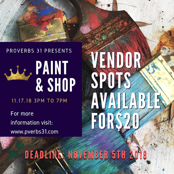 Proverbs 31 Paint And Shop Night 2018