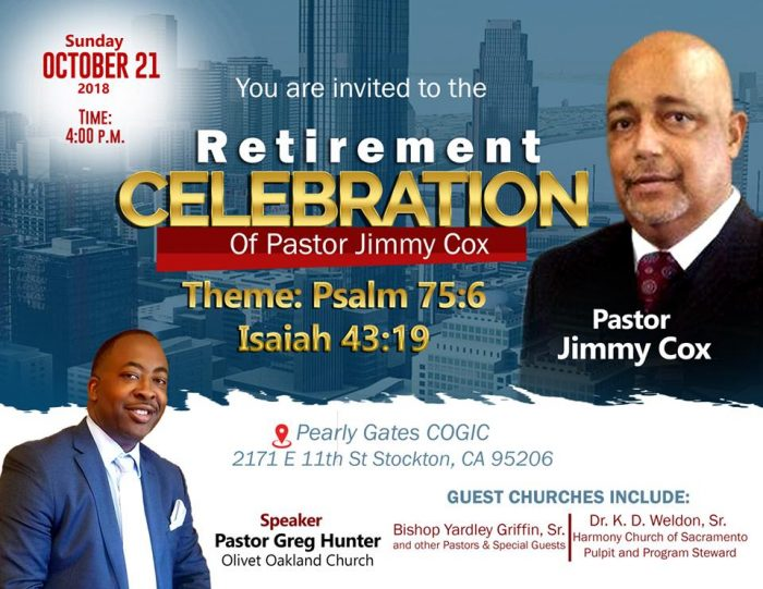 Rev Jimmy Cox Retirement Celebration 2018