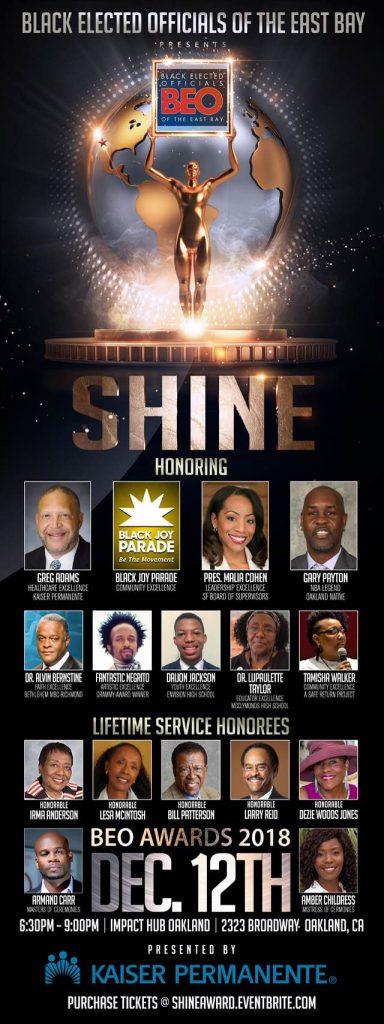 Shine! 2018 BEO Honors Awards