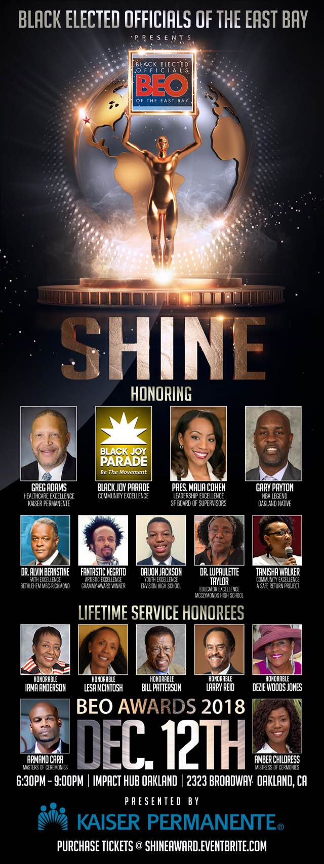 Shine! 2018 BEO Honors Awards