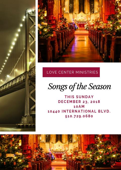 Love Center Ministries Songs Of The Season