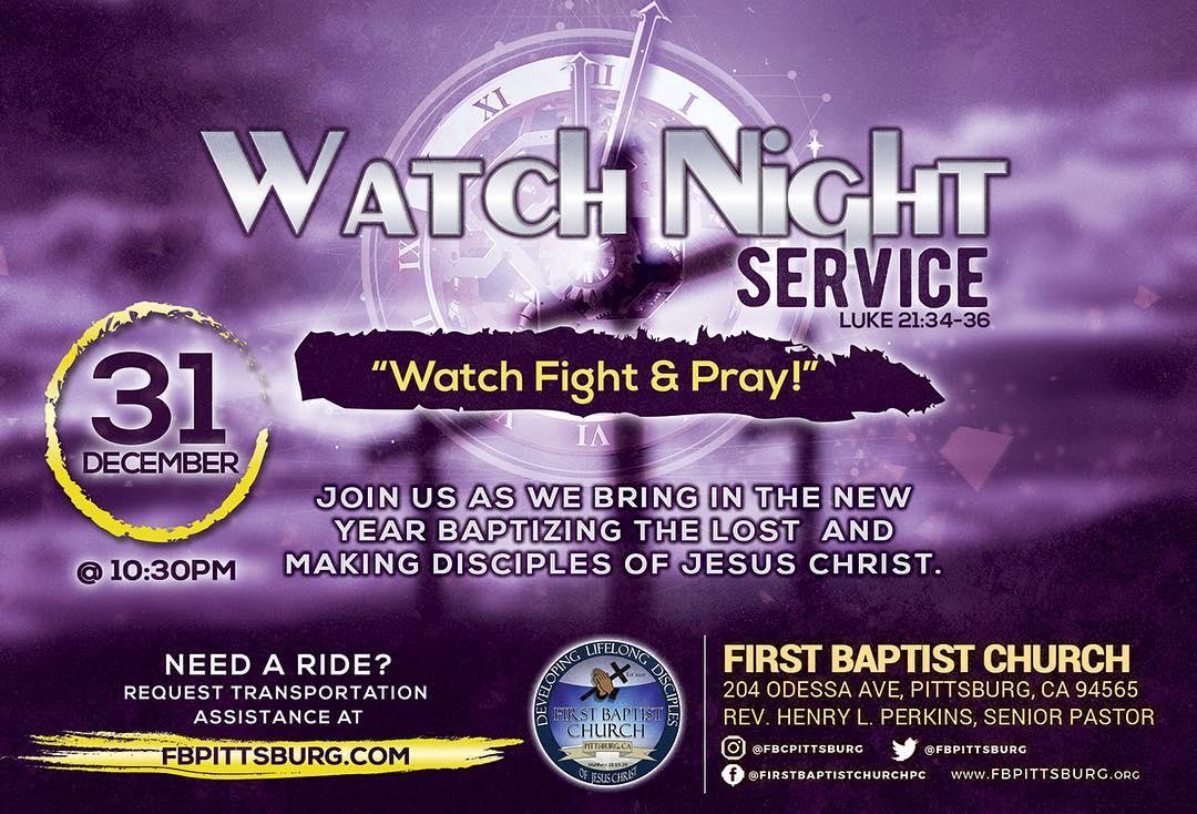 First Baptist Church Pittsburg Watch Night 2018
