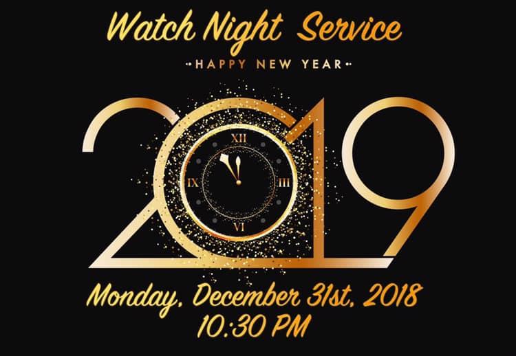 Genesis Church Watch Night Sacramento 2018