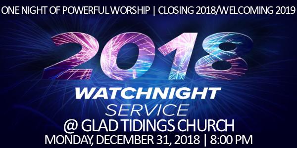 Glad Tidings Cogic Watch Night Service 2018