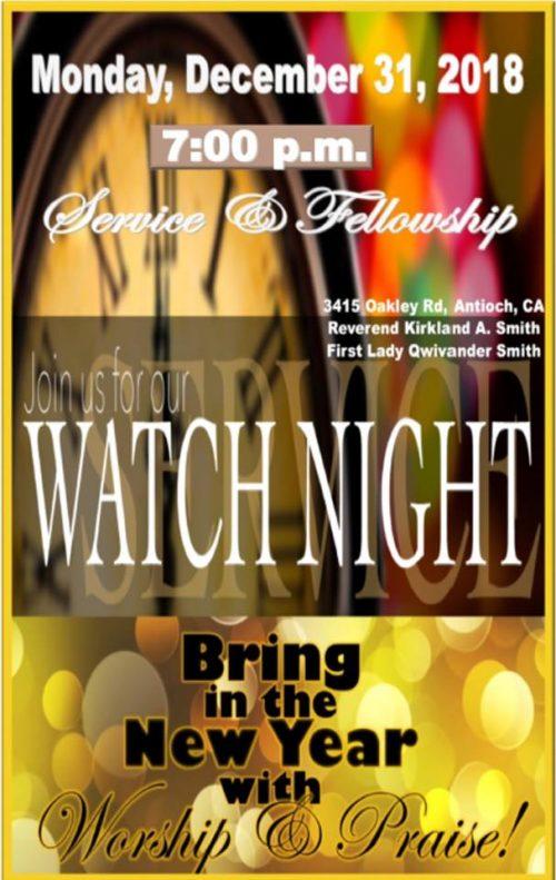 Grace Bible Fellowship Of Antioch Watch Night 2018